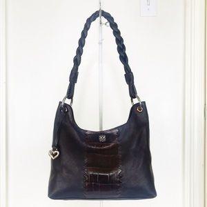 Brighton 'Lyle' Chocolate Leather Shoulder Bag